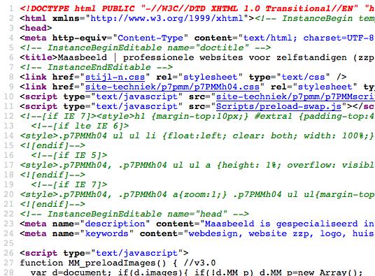 HTML-code, waar zou je je druk om maken?