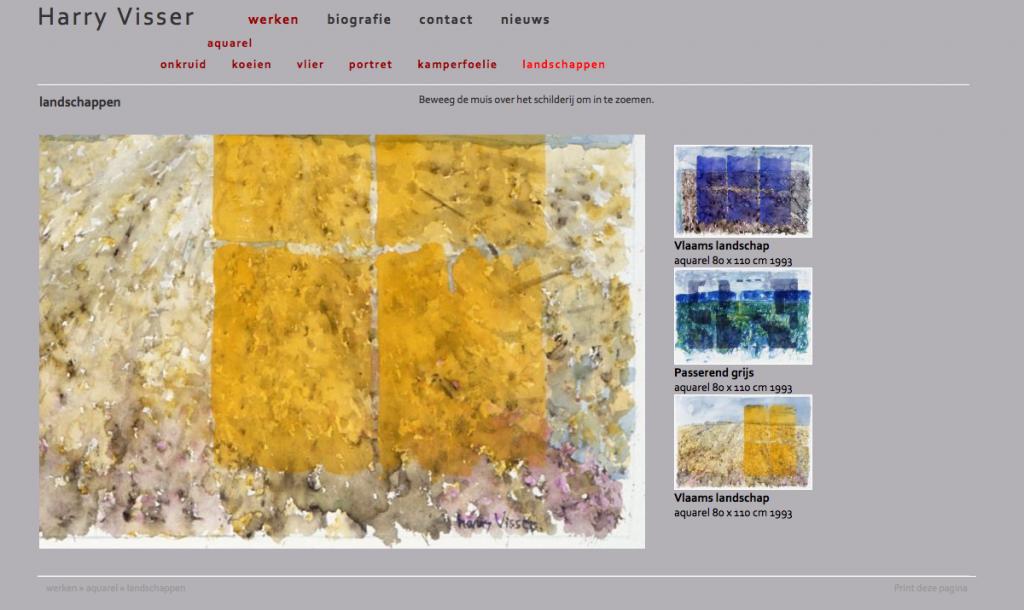 website kunstenaar