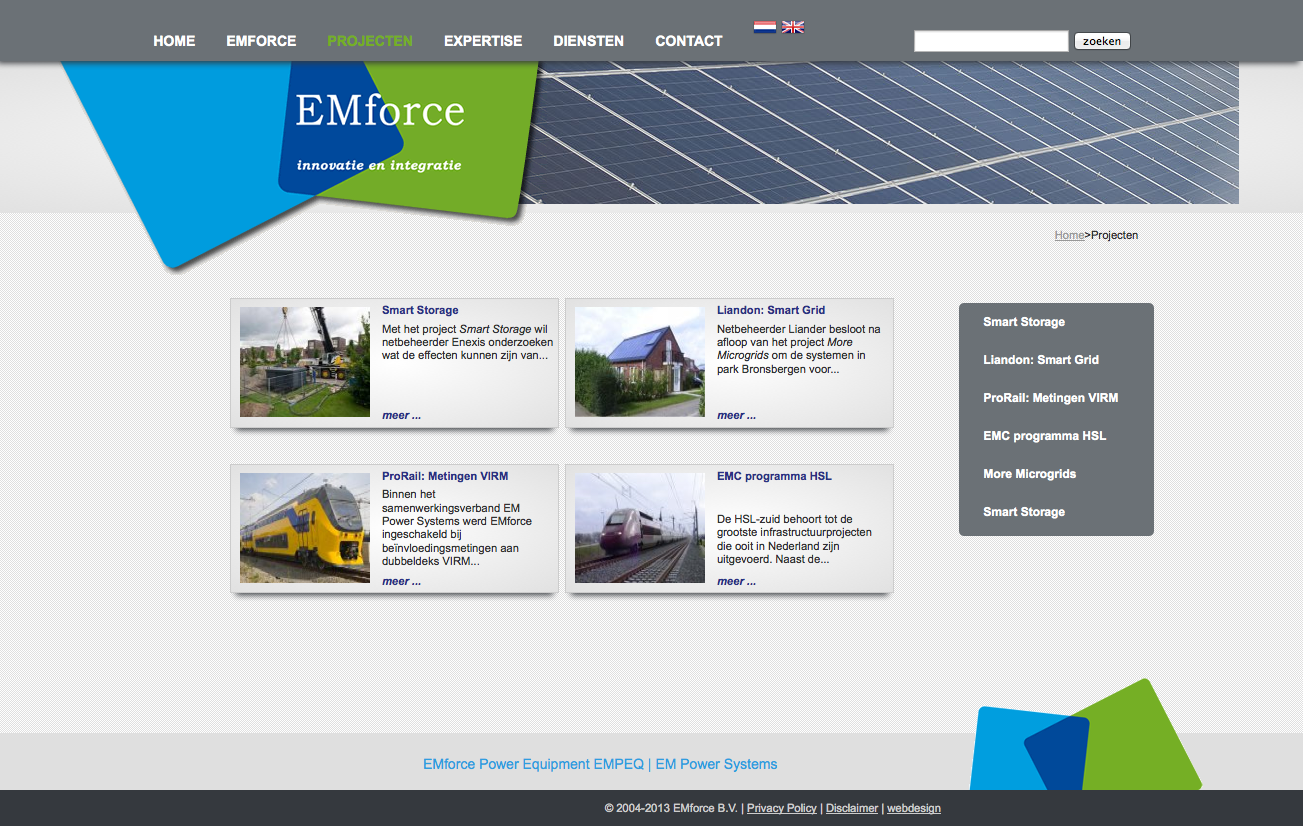 website emforce uniek design