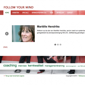 CASE WEBSITE MANAGEMENT-, INDIVIDUELE COACH