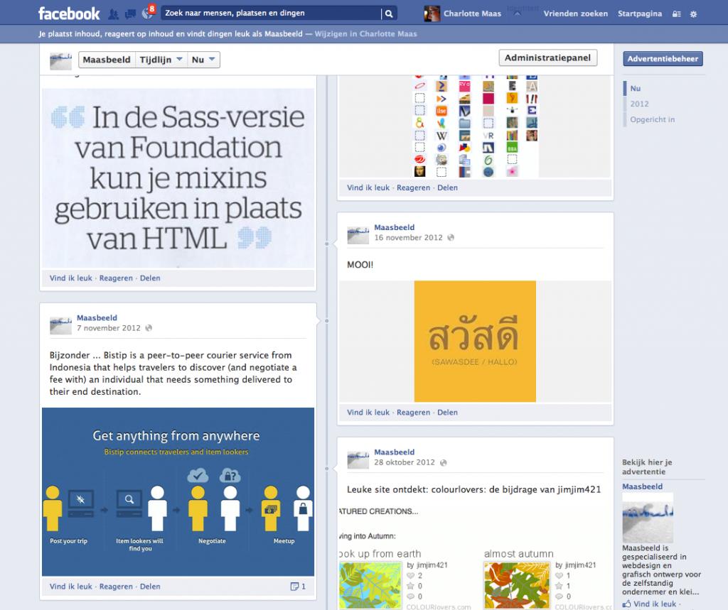 Facebook maasbeeld screen