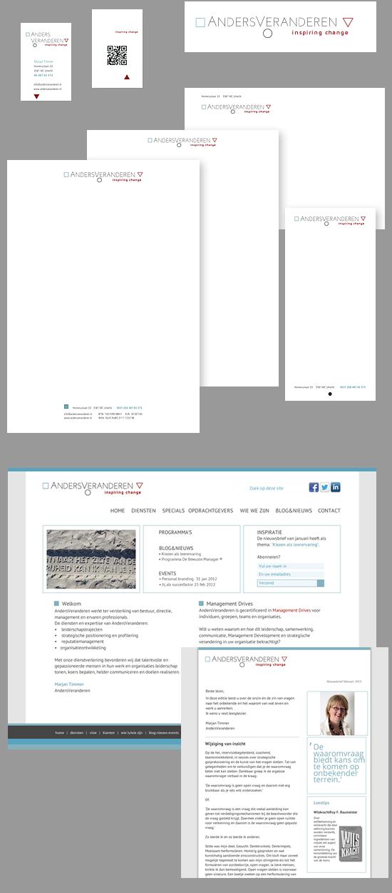 huisstijl, webdesign en nieuwsbrief