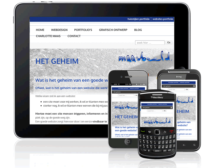 Website mobiel