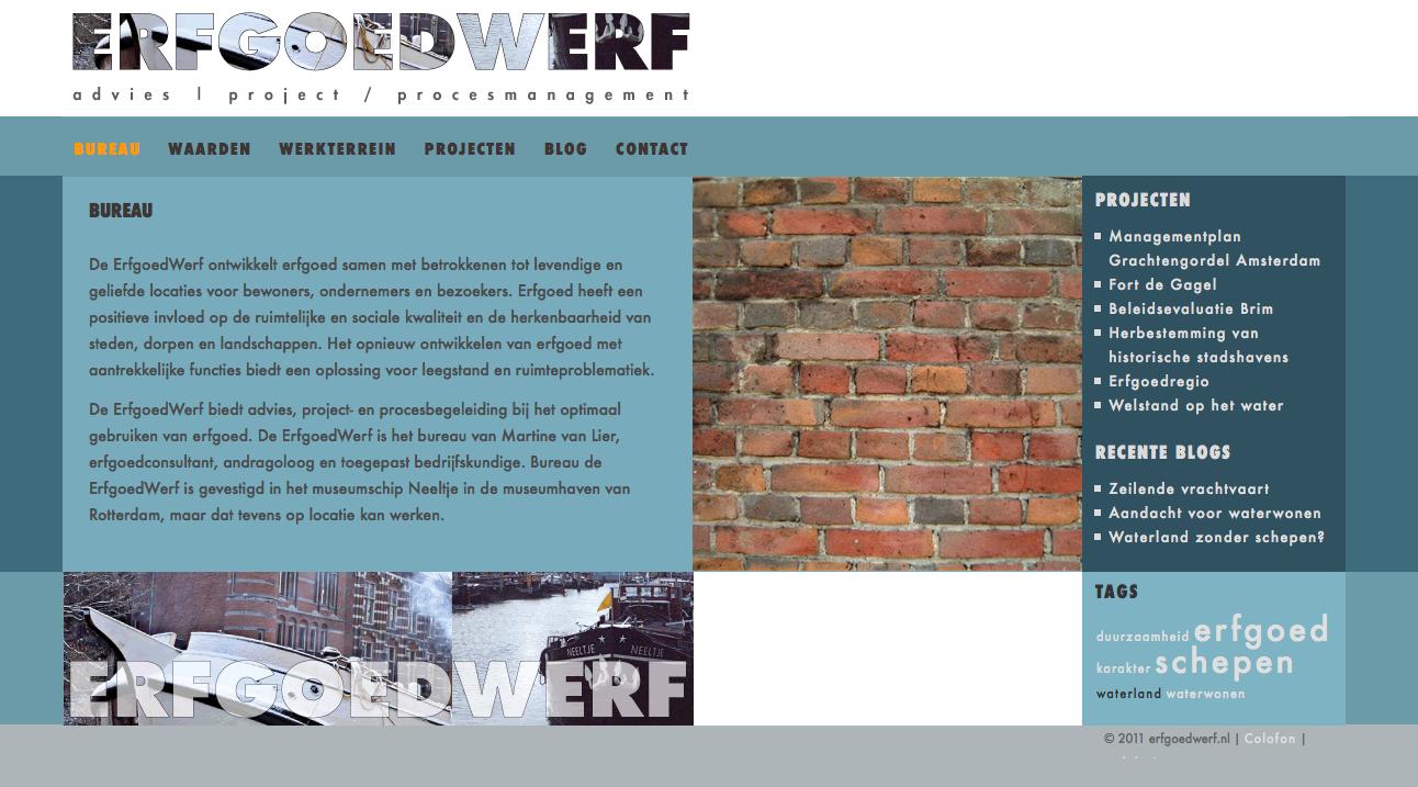 website voor erfgoedconsultant