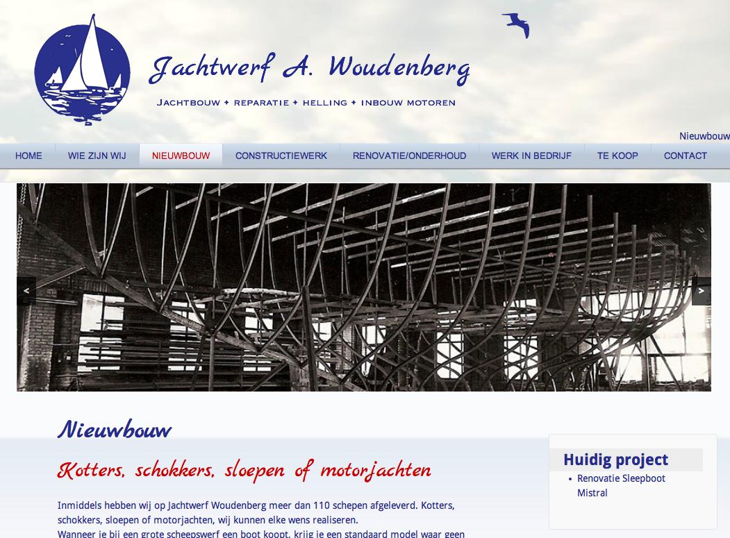 website jachtbouw, helling, constructiewerk