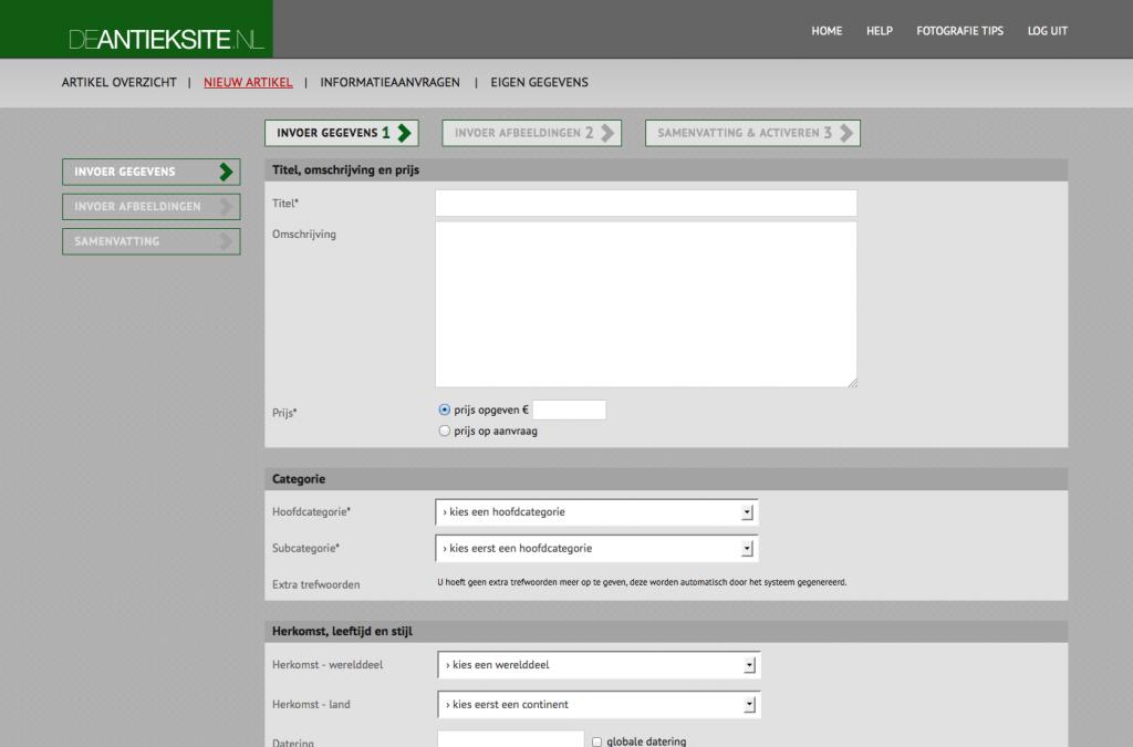 website ontwerp en bouw de antieksite.nl
