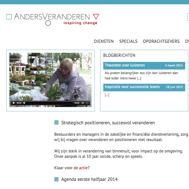 website verander manager