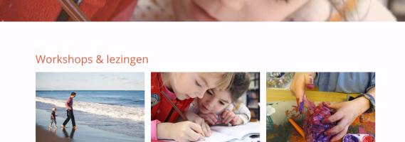 Website voor workshop, lezingen aanbod
